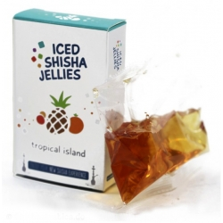 Iced shisha drebučiai skystyje (tropinė sala)