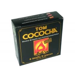 "Natūrali kokoso anglis ""Tom cococho PREMIUM GOLD MINI"" 9 kubeliai"